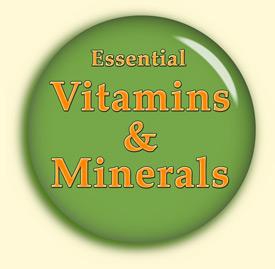 vitamins minerals button