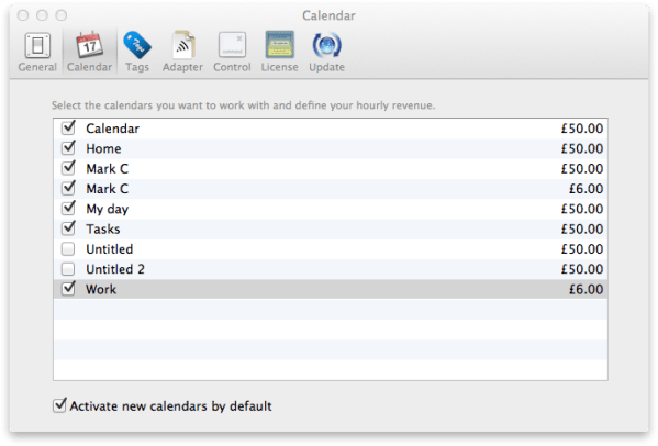 Minco Calender Preferences Pane Review : Minco 1.3. A Simple Yet PowerFull Time Tracker