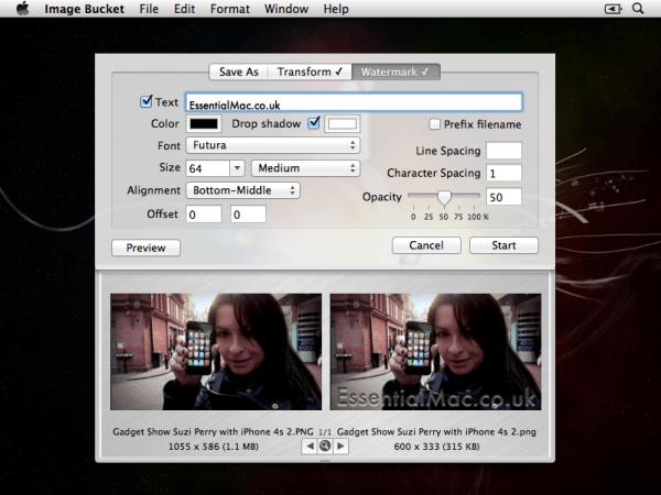 Image Bucket Watermarking Window AOTD : Image Bucket 1.7.4 The Usefull batch image convertor with watermarking