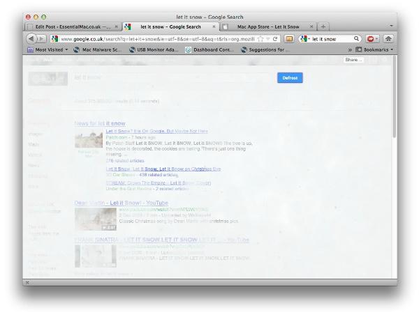 Let It Snow Google Let It Snow   ilia software.  Festive Snow Screensaver For Mac