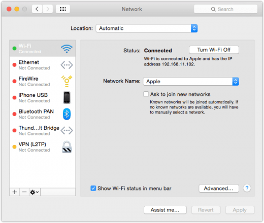Mac System Preferences Network 520x440 iMessage Could not sign in. Please check your network connection and try again