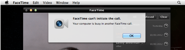 FaceTime cant initate call FaceTime error: FaceTime cant initiate the call.