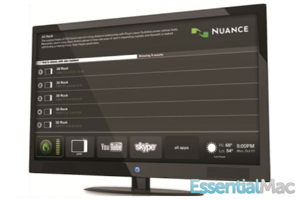 Nuance Dragon TV Interface Dragon TV Speech Controlled TV Coming In May Before Apples iTV
