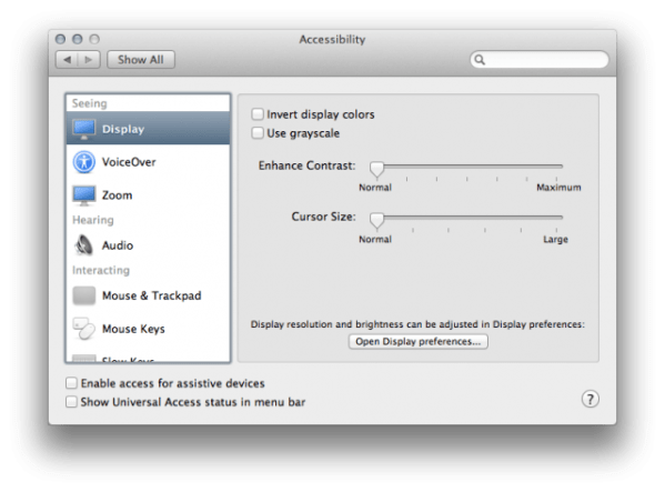 OSX Moutain Lion Accessibility 640x473 OS X 10.8 Mountain Lion Preview : More Features and UI Changes Revealed