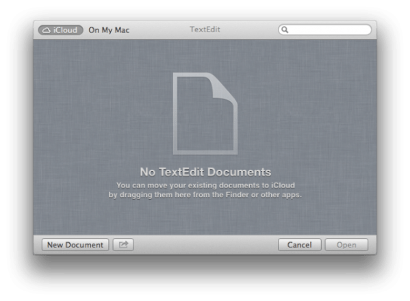 TextEdit ICloud Intergration 640x470 OS X 10.8 Mountain Lion Preview : More Features and UI Changes Revealed