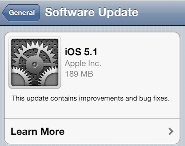 iOS 5.1 software update iOS 5.1 For iPhone 4S, 4, 3GS, iPad And iPod touch Download Links