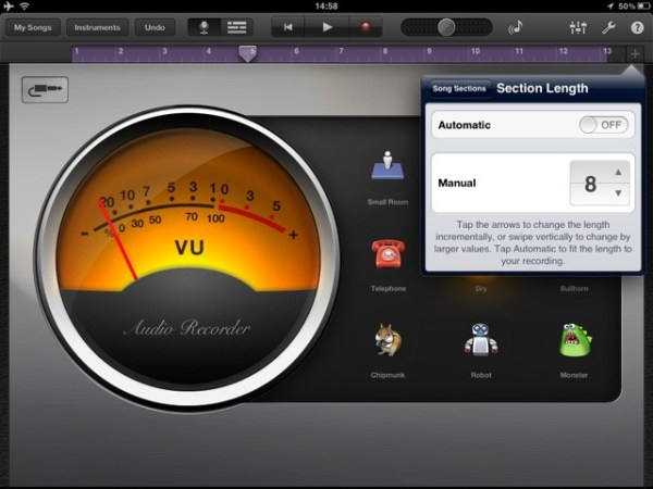 20120505 145951 How to increase the recording time in Garageband for iPad or iPhone