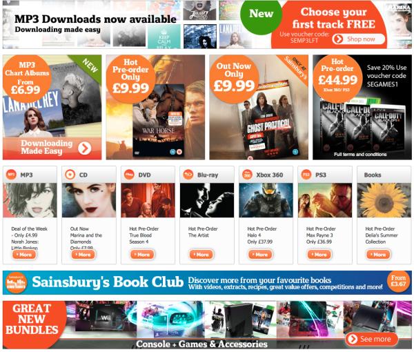 Sainsburys Entertainment Sainsburys To Rival Apple iTunes?