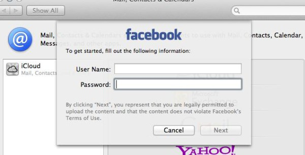 Mountain Lion Facebook Prefs Login 600x305 What Does OS X Mountain Lion Facebook Integration Look Like?