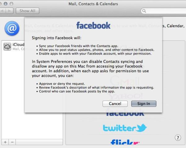 Mountain Lion Facebook Prefs What Does OS X Mountain Lion Facebook Integration Look Like?