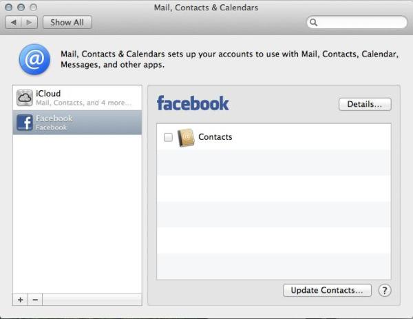 Mountain Lion Facebook Setup What Does OS X Mountain Lion Facebook Integration Look Like?