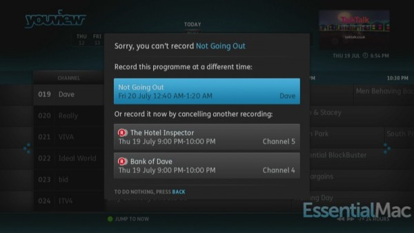 YouView Conflict Resolution 600x337 Review, Hands On : YouView Humax DTR T1000 PVR with IP TV