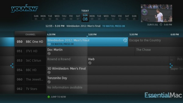YouView Guide 600x337 Review, Hands On : YouView Humax DTR T1000 PVR with IP TV