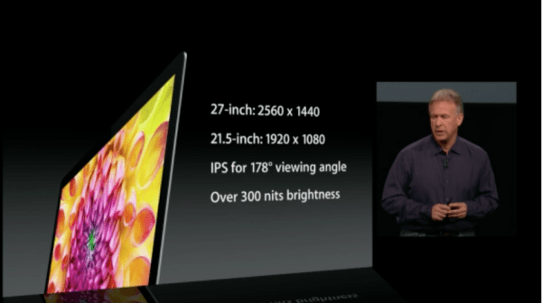 New iMac Display 600x336 Apple Special Event  The Next Generation iMac   Crikey it's thin!