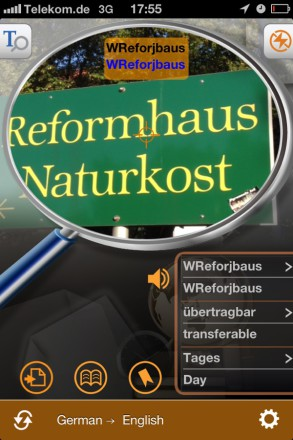 Worldictionary randomsign 293x440 Worldictionary iPhone App Review   Instant Translation And Search