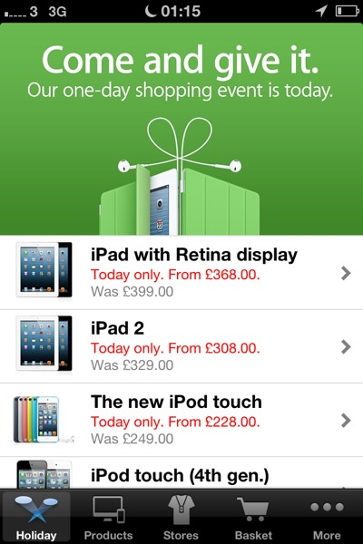1353633405 Apple's 2012 Black Friday Sales