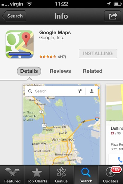 1355397853 Google Maps For iPhone 5 And iOS 6 is here With Turn by Turn Navigation, Transit & Street View