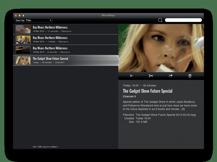 Tizi Recordings And Editing Equinux Tizi.TV Review : Mini USB TV Tuner For Mac