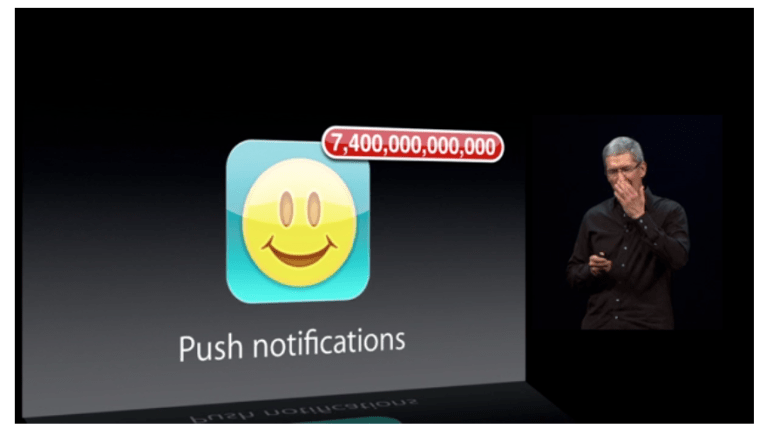 7 Trillion Push Notifications WWDC 2013 :  iWork For iCloud, Numbers, Pages And Keynote