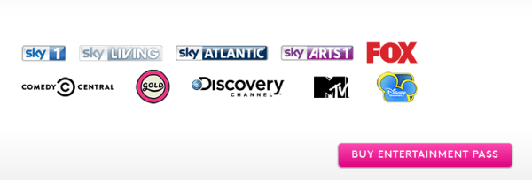 Sky Now TV Monthly Entertainment Pack 600x204 Sky's Now TV offers 10 entertainment channels for £4.99 per month