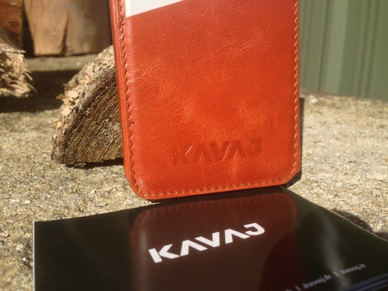 Kavaj Leather Dallas Case Bottom Half KAVAJ Leather iPhone Case Dallas in Cognac Brown First Look.