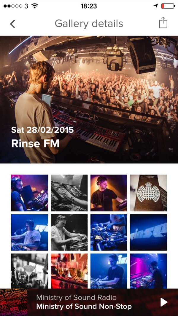 MoS Radio Gallery Ministry of Sound Radio app Review. Stylishly Executed MoS Radio Player