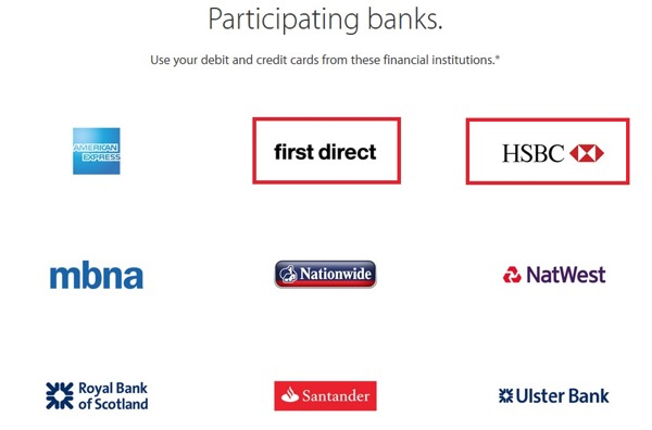 You can now use Apple Pay with HSBC and First Direct in the UK