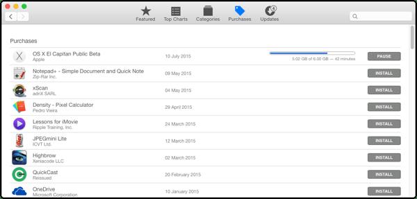 OS X El Capitan Public Beta 6gb Download thumb OS X El Capitan Public Beta Now Available.  Remember To Backup.