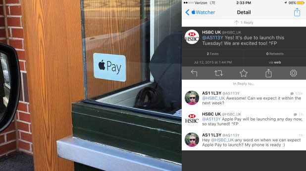 apple pay leaks HSBC Confirms July 14 For Apple Pay UK Launch