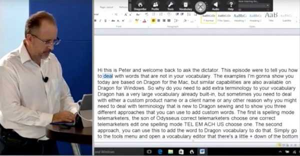 Dragon Transcription Training For Windows 600x312 Dragon Dictate 5 For Mac First Look At Transcription