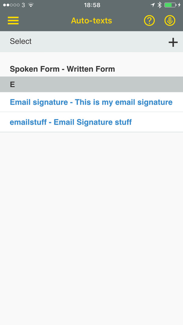 Dragon Anywhere Auto Texts Dragon Anywhere for iOS Review