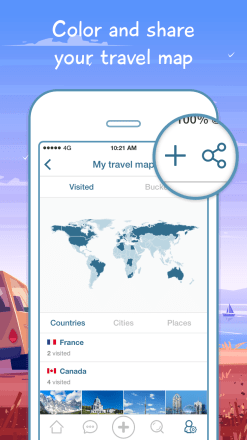 ShutterBee App Screen1 247x440 ShutterBee App : Track and share your journeys