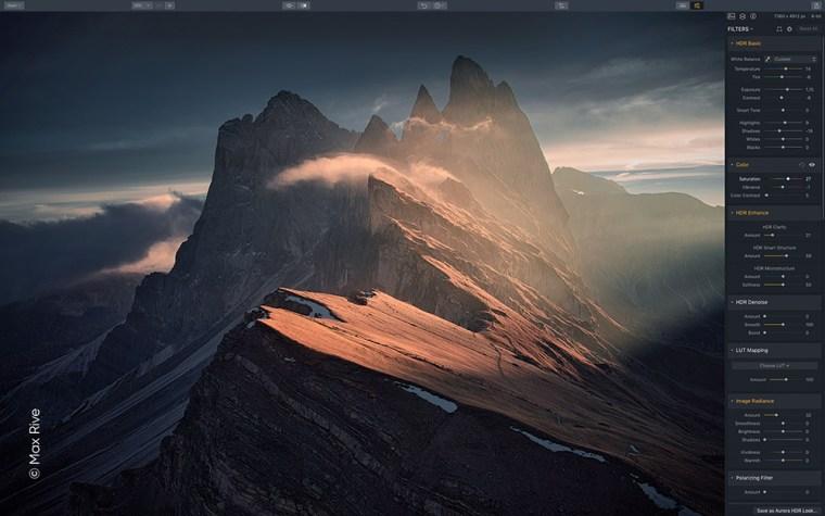 UI 01 Aurora 2019 Max Rive 02 Press Release from Skylum: Aurora HDR 2019