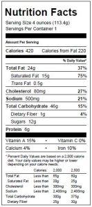 Blueberry Scone Nutritionals