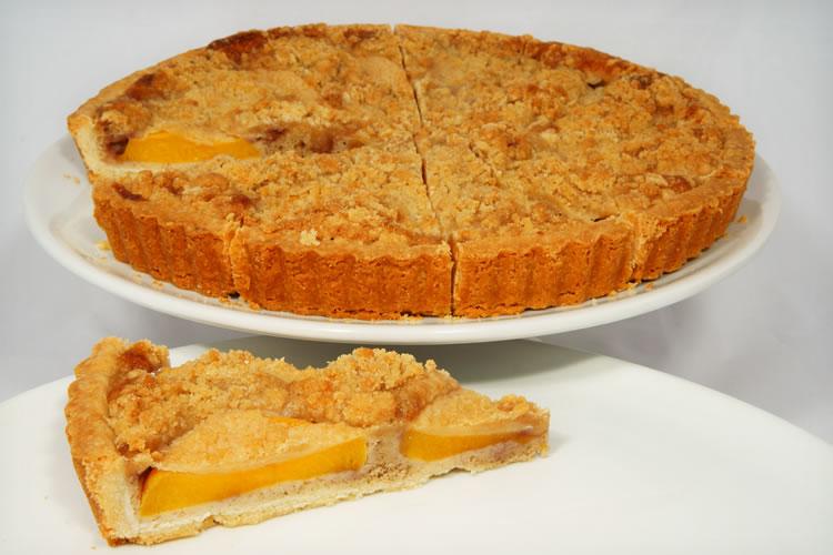 """Peach Hazelnut 11"""" Tart"""
