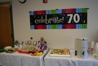70th anniversary banner