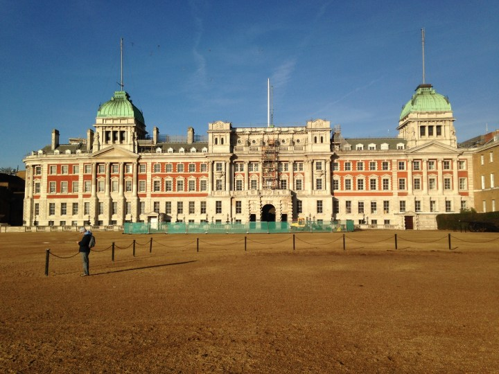 Exterior of Horse Guards parade in the afternoon sun