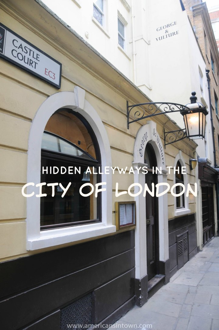 Hidden alleyways in the City of London