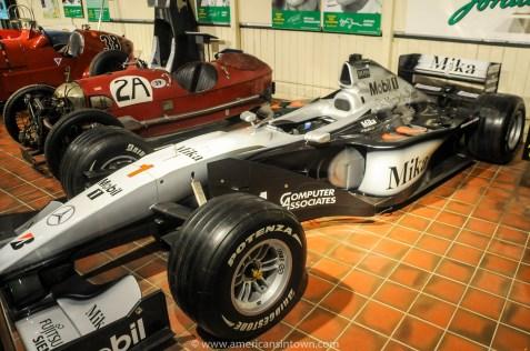 Mercedes F1 car driven by Mika Hakkinen