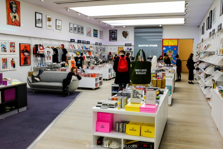 Saatchi Gallery shop on the first floor of the gallery