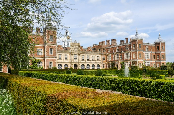 The front of Hatfield House, that featured prominently in the film; 'The Favourite'