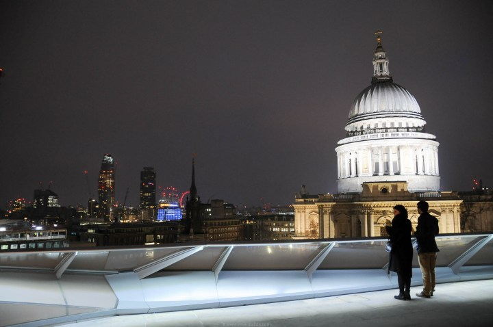 View of St Paul's from the roof of New Change, Cheapside
