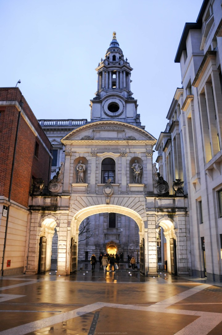 Temple Bar, one of the City's gates, was situated in Fleet Street until removed in Victorian times. Today it is in Paternoster Square.