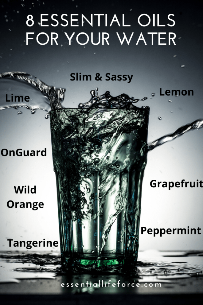 Yummy water with 8 choices of essential oil for flavor