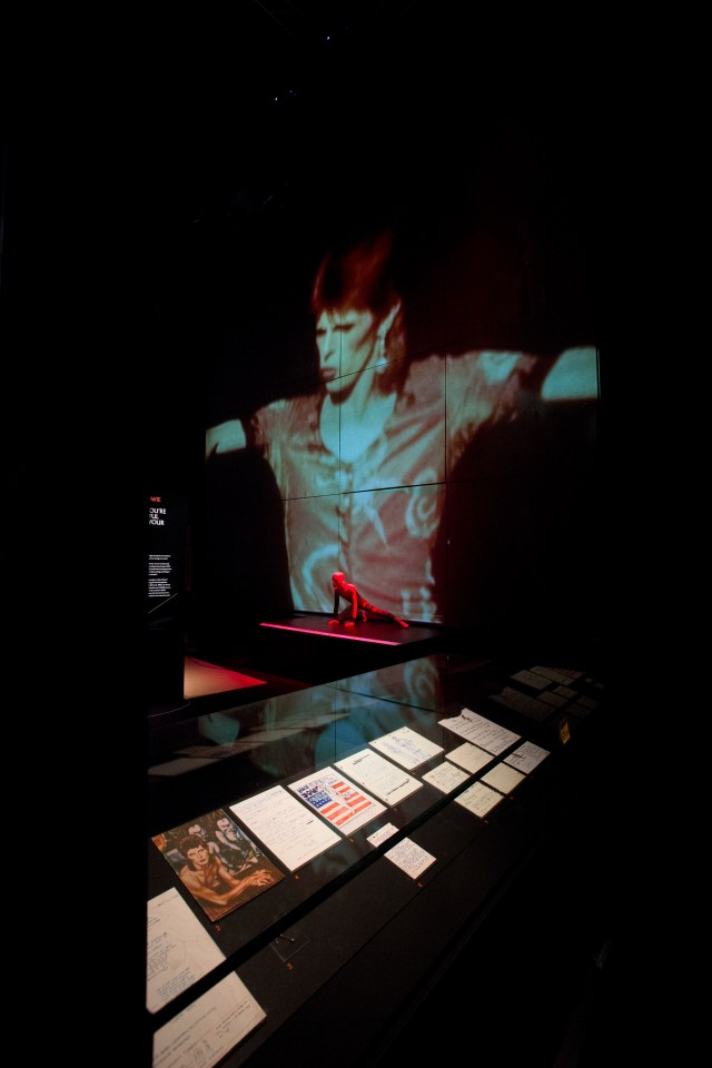 Installation Shot of David Bowie is at the V&A is courtesy David Bowie Archive (c) Victoria and Albert Museum, London
