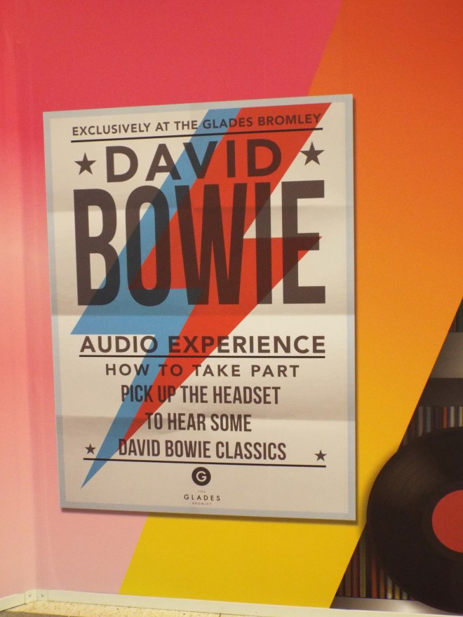 Instructional poster at the David Bowie Interactive Musical Wall, The Glades, Bromley. Photo Credit: Lisa Hafey