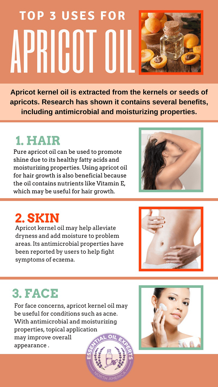 Learn the top apricot oil uses such as apricot oil for acne and apricot kernel oil for hair.