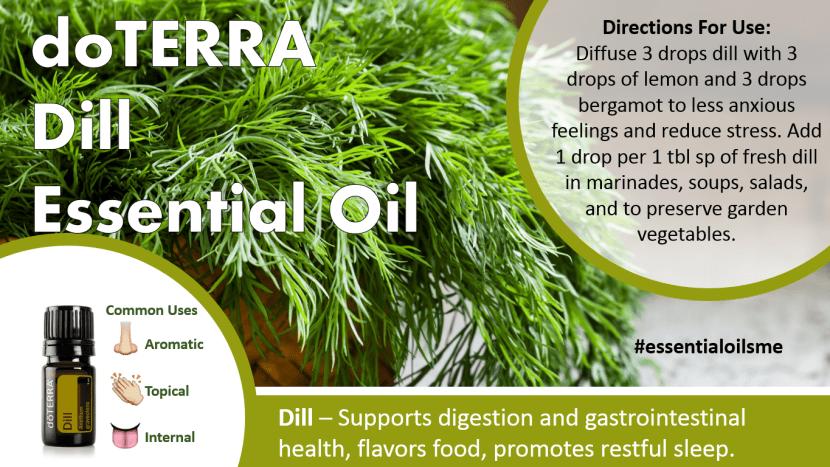 doterra dill essential oil