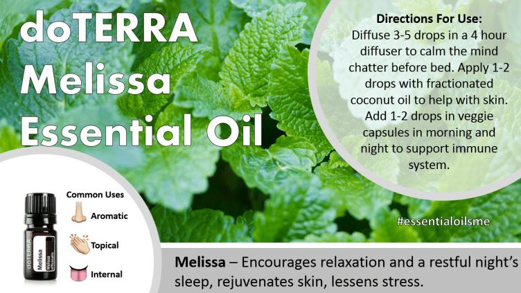 doterra melissa essential oil