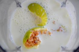 Figs in the shaker. Goat milk - nourishing you, nourishing me